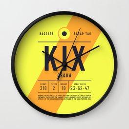 Baggage Tag E - KIX Osaka Kansai Japan Wall Clock
