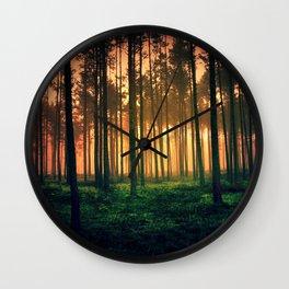 Dark forest 01 Wall Clock