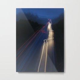 Whizzing Lights Metal Print