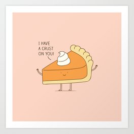 A pie's crush Art Print