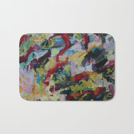 Unchained: Bold and Colorful Orginal painting Bath Mat