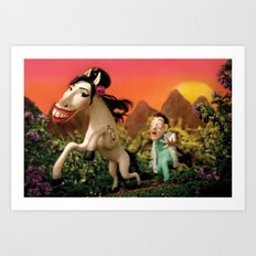 Amy Wildhorse Art Print