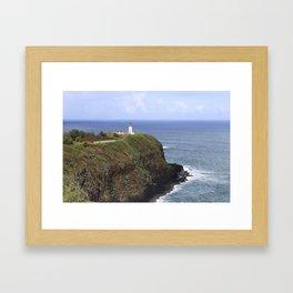 Kilauea Lighthouse, Kauai, Hawaii Framed Art Print