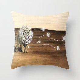 Dandy-Lion Throw Pillow