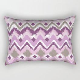 Aztec Tribal Purple iKat Inspired Pattern Design  Rectangular Pillow