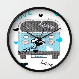 Love Bus Wall Clock
