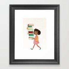 Library Girl 4 Framed Art Print