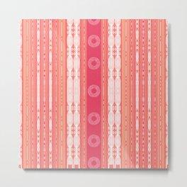 Pink Peachy Pattern Metal Print