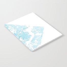 Washington DC Blue Building Map Notebook