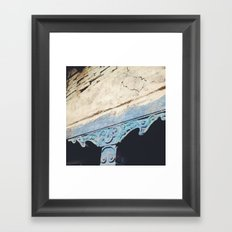 Turquoise Pillar Framed Art Print