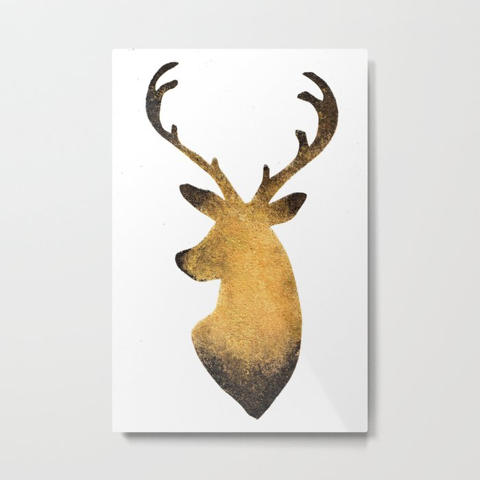 Golden Stags Metal Print