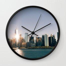 Morning over Manhattan Wall Clock