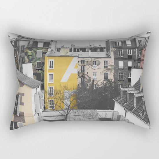 Paris I (Tags) Rectangular Pillow
