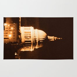 St Paul's Cathedral in Sepia & Dry Brush Effect Rug