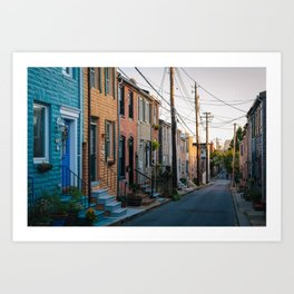 Colors along Chapel Street Art Print