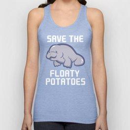 Manatee Retro Vintage Save The Floaty Potatoes design Gift Unisex Tank Top