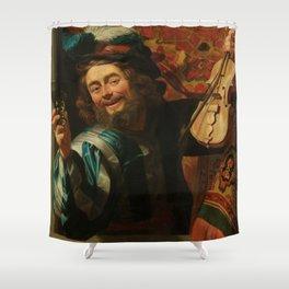 "Gerard van Honthorst ""The Merry Fiddler"" Shower Curtain"