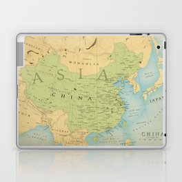 Aged Map of China Laptop & iPad Skin