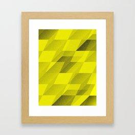 bent step - yellow Framed Art Print
