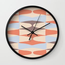 Zaha Blue Retro Wall Clock
