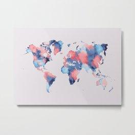 map world map 58 Metal Print