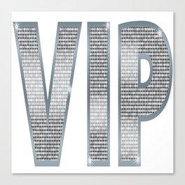 VIP Silver Canvas Print