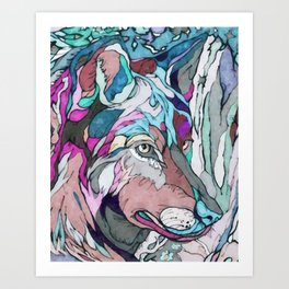 Colorful Wolf Art Print