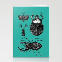 insects Stationery Cards featuring Insects by Ejaculesc