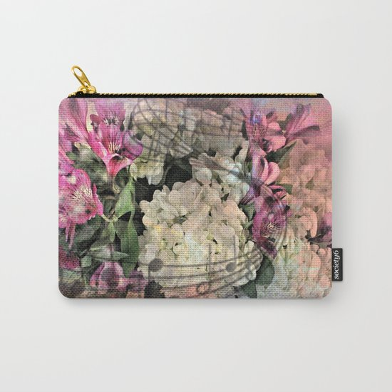 Painterly Spring Splendor Abstract Carry-All Pouch