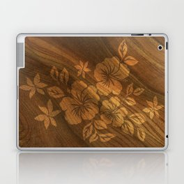 Lilikoi Hibiscus Hawaiian Textural Pareau Design Laptop & iPad Skin