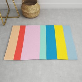 the color of summer stripes Rug