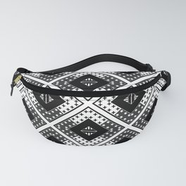Black white , Scandinavian 1 Fanny Pack