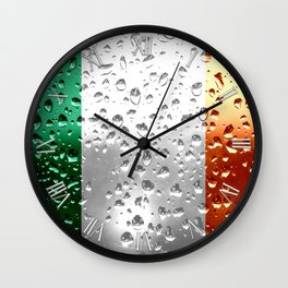 Flag of Ireland - Raindrops Wall Clock