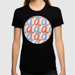 Lower Case Letter A Pattern T-shirt