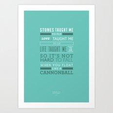 Lyrical Type - Cannonball Art Print