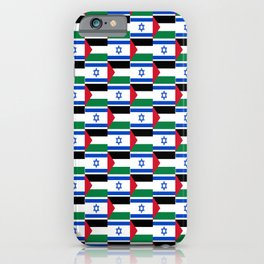 Mix of flag : Israel and Paslestine iPhone Case