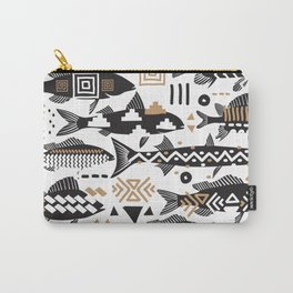 Boho Fishes Carry-All Pouch