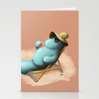 manatee Stationery Cards featuring Manatee  by Jamie Bechtel