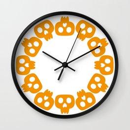Skeletons monogram frame Wall Clock