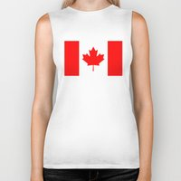 canada Biker Tanks featuring Canada by McGrathDesigns