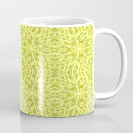 Yellow Unusual Rose Swirl Pattern #6 Coffee Mug