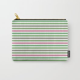 Pink Roses in Anzures 5  Stripes 1H Carry-All Pouch