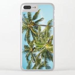 Coconut Palm Trees Sugar Beach Kihei Maui Hawaii Clear iPhone Case