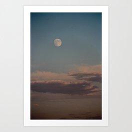 An Early Moon Rise Art Print