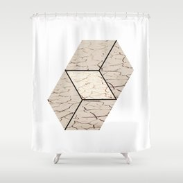 Earth hexagon abstract - Earth sign - The Five Elements Shower Curtain