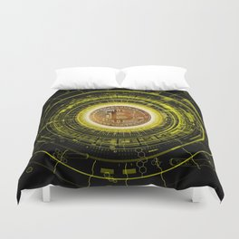 Bitcoin Blockchain Cryptocurrency Duvet Cover