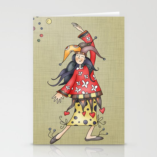 Lady Jokers Stationery Cards