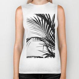 Palm leaves paradise in black Biker Tank