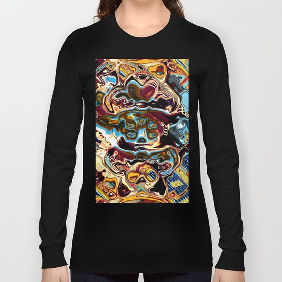 Chaotic Abstract Conglomeration Long Sleeve T-shirt