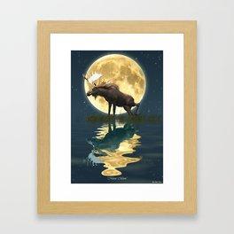 Moose & Moon Framed Art Print